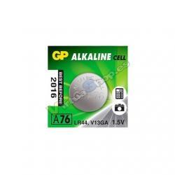 PILA ALCALINA GP LR44 A76 BLISTER / 1.5V G343 - Imagen 1