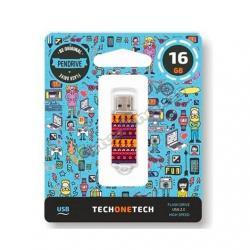 PENDRIVE 16GB TECH ONE TECH TRIBAL QUESTIONS USB 2.0 TEC401 - Imagen 1
