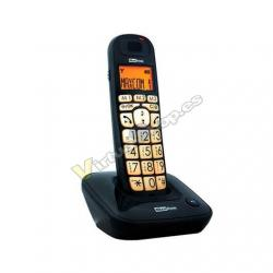 TELEF. INALAMBRICO MAXCOM MC6800 NEGRO BLOQUEO DE LLAMADAS/ - Imagen 1
