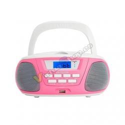 RADIO CD AIWA BOOMBOX BBTU-300PK ROSA BLUETOOTH/CD/USB/MP3/ - Imagen 1