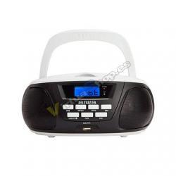 RADIO CD AIWA BOOMBOX BBTU-300BW NEGRO BLUETOOTH/CD/USB/MP3 - Imagen 1
