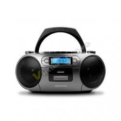 RADIO CD-CASETE AIWA BOOMBOX BBTC-550MG GRIS CASETE/CD/USB/ - Imagen 1
