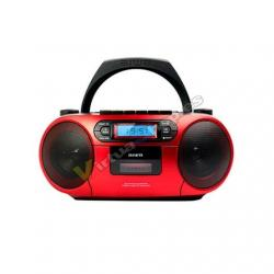 RADIO CD-CASETE AIWA BOOMBOX BBTC-550MG ROJO CASETE/CD/USB/ - Imagen 1