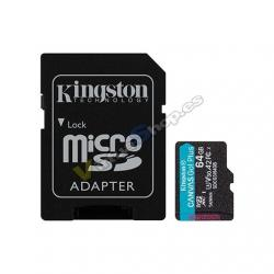 MEM MICRO SDXC 64GB KINGSTON CANVAS GO UHS-I CL10 - Imagen 1