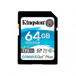 MEM SDXC 64GB KINGSTON CANVAS GO UHS-I CL10 - Imagen 1