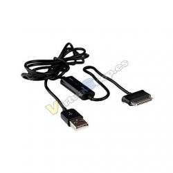 CABLE USB(A) 2.0 A CONECTOR SAMSUNG 30 PINS APPROX 1M NEGRO - Imagen 1