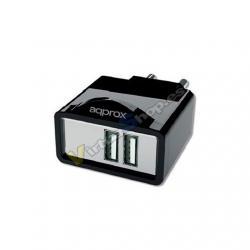 CARGADOR USB TABLET/SMARTPHONE APPROX 6 TIPS NEGRO - Imagen 1