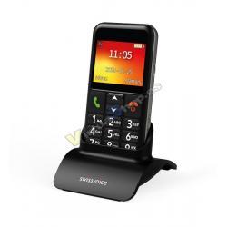 TELEFONO MOVIL SWISSVOICE B24 MOBILE BLACK EU - Imagen 1