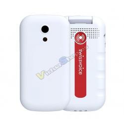 TELEFONO MOVIL SWISSVOICE S24 2G EU WHITE WITH HEADSET 5 LANGUAGES CG2 - Imagen 1