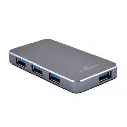 HUB 4 PUERTOS USB3.0 BLUESTORK HUB-USB3-4U-PS - Imagen 1