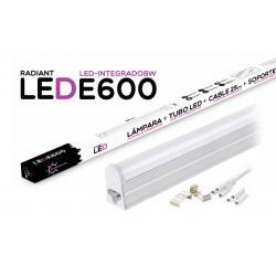 Tubo LED Integrado E600 60CM 8W 6500K Luz Fría 700LM Radiant LED - Imagen 1