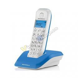 TELEFONO INALAMBRICO DECT DIGITAL MOTOROLA S1201 AZU - Imagen 1