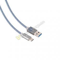 CABLE USB (A) A USB TIPO C BLUESTORK TRENDY GRIS GRIS / TRE - Imagen 1