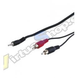 CABLE AUDIO 2xRCA-M A 1xJACK-3.5-M 1.5M