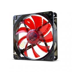 VENTILADOR 120X120 NOX HFAN 120 LED ROJO - Imagen 1