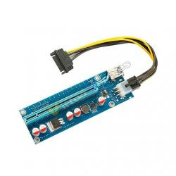 ADAPTADOR PCI-E 1X A PCI-E 16X GPU EXTENDER RISER - Imagen 1