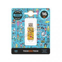PENDRIVE 16GB TECH ONE TECH EMOJITECH EMOJIS - Imagen 1