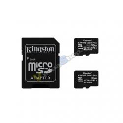 MEM MICRO SDHC 16GB KINGSTON CANVAS SELECT+ADAPT - Imagen 1