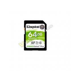 MEM SDXC 64GB KINGSTON CANVAS SELECT PLUS - Imagen 1